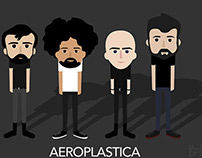 Aeroplastica Music band illustration