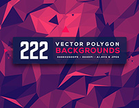 222 Polygon Backgrounds
