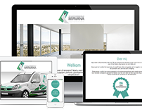 Stukadoorsbedrijf Mirvana |  One page scroll Webdesign