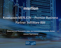 MERLION & IBM landing page