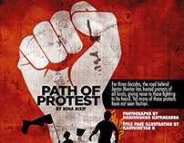 Path of protest - Title page illustration