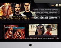 THG: Catching Fire Web Design