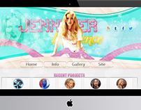Jennifer Lawrence Web Design