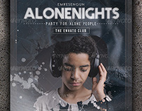 Alone Nights Party Flyer