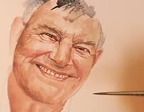 'Grandad Newby' Portrait Painting