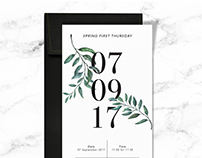 First Thursday Event Invite Design