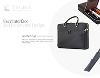 Tilgens Leather Accessories UI Design