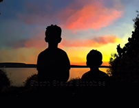 Two boys and a sunset
