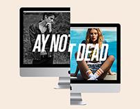 AY NOT DEAD web design