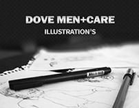 Dove Men Illustrations