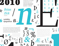 Espécimen tipografía Neuton