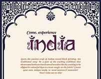 Wood Block Typeface for India