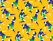 Seamless World Cup 2014 Team Patterns