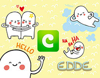 """Edde"" Stickers Pack for COCO app"