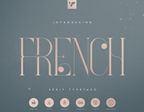 French Serif Typeface - 4 weights