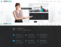 Super | One Page PSD