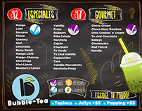 BUBBLE TEA, Bebidas de te.