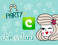 """Jim&Jane"" Stickers Pack for COCO app"