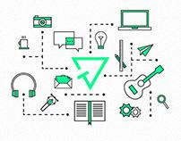 Icon set - personal portfolio