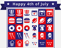 Free 4th of July Icon Set