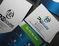 Business Card for PC Secure Technology Comapny