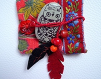 Totem owl and Amulet bag