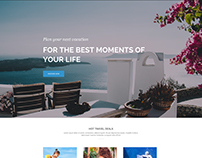 Divi Layout PSD For A Travel Agency