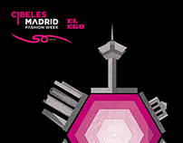 cibeles fashion show billboard illustration and design