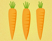 Carrots (with repeat pattern)