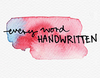 """every word handwritten"" (2013)"