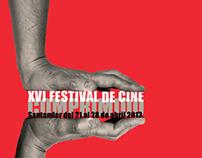 Cartel festival de cine comprimido