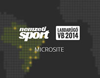 FIFA World Cup 2014 microsite for nemzetisport.hu