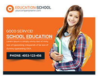Junior School Education Flyer Template