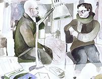 Московские офисы в зарисовках