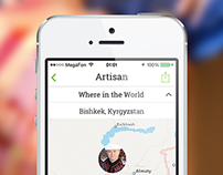 GlobeIn app 1.0 design & app store screens presentation