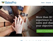 SalesPro - Responsive website