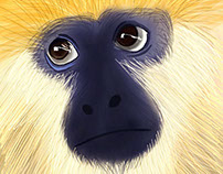 The sad monkey | Animals Drawings