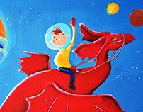 Children's Book Illustration  My Pet Dragon