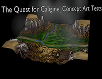 The Quest for Caligine concept art tests