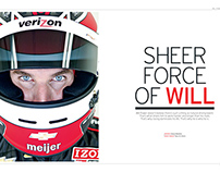 RACER : cover story on PENSKE's Will Power IndyCar star