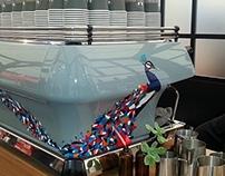 Hand-painted Coffee Machine  Veneziano Coffee Roasters