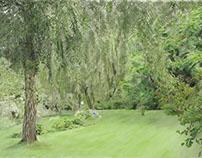 Green garden - digital painting DPI