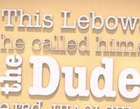 The Big Lebowski Typography Animation