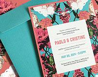 Wedding Invite for Paolo & Cristine
