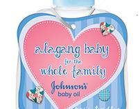 Johnsons Baby Oil Neckringer Design