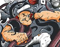 Popeye vs Kraken