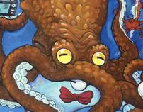 Key West Fantasy Fest poster illustrations