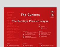 Arsenal 14/15 Fixtures Poster