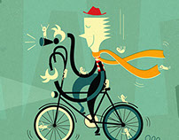 Bike Friendly Book Illustration