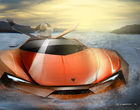 Sketch Fighter Final Round_ Lamborghini Amphibious